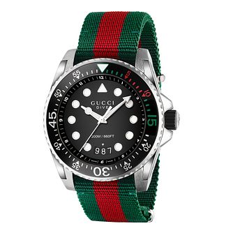 Gucci Dive Fabric Striped Strap Watch - Product number 6181643