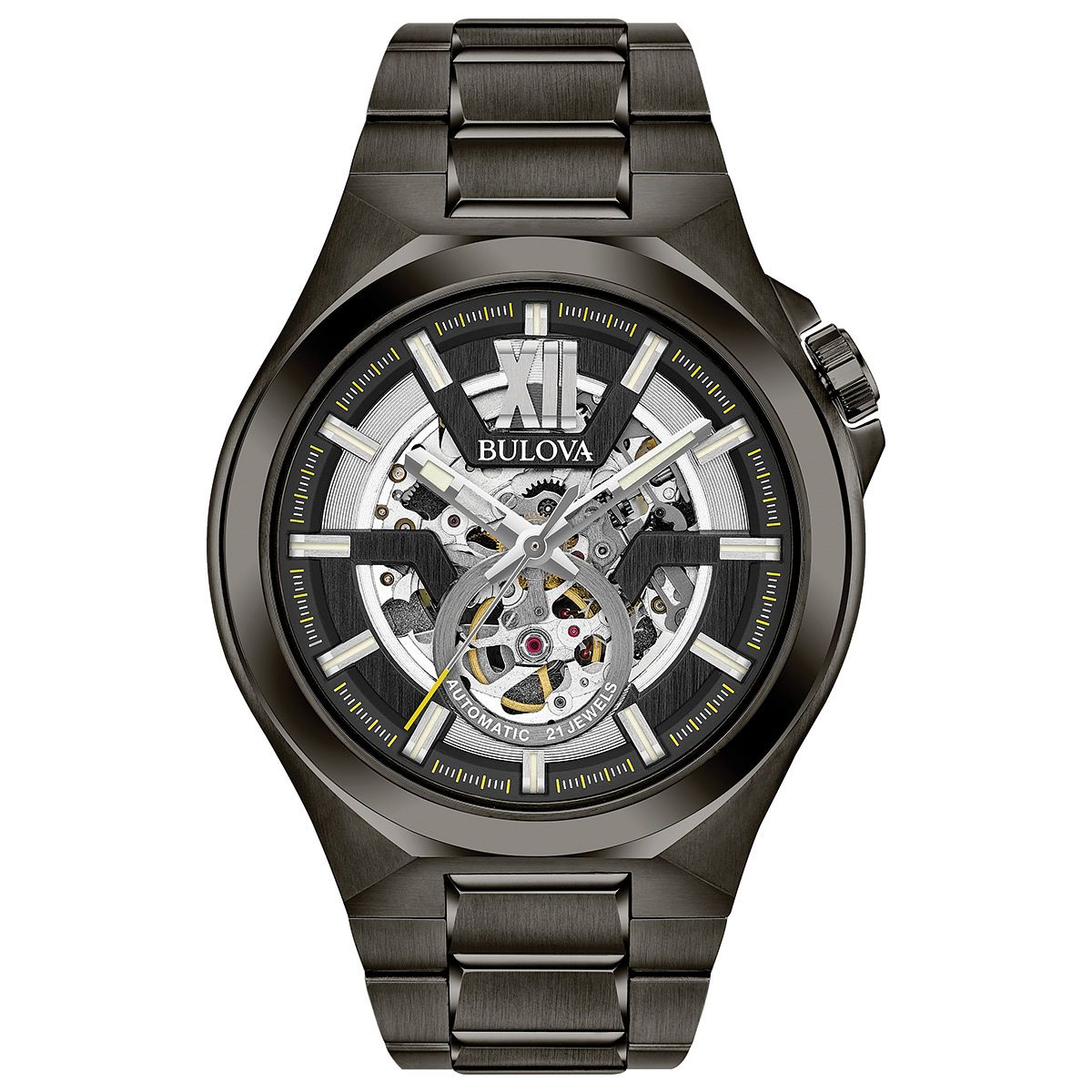 Bulova Men's Classic Automatic Gunmetal Bracelet Watch - Product number 6182615