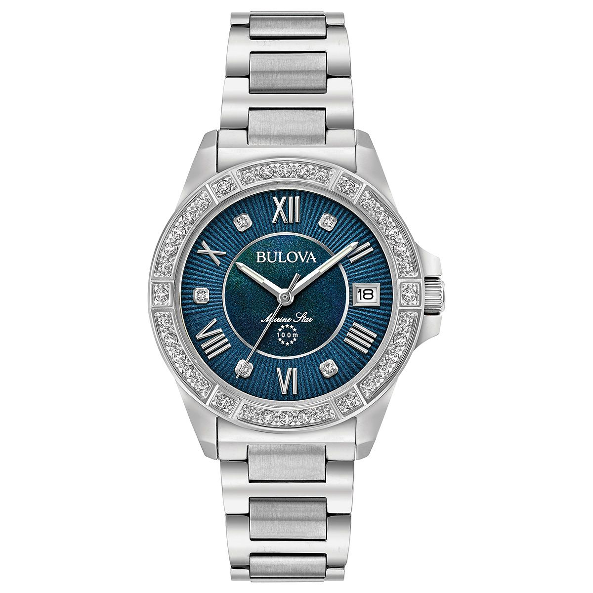 Bulova Ladies' Marine Star Diamond Steel Bracelet Watch - Product number 6182623