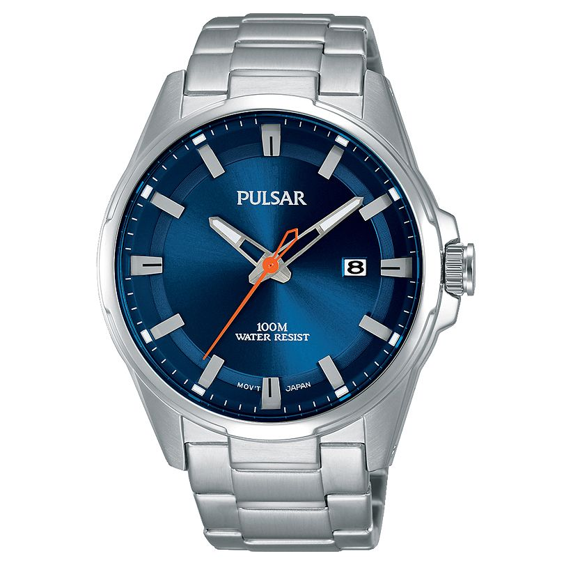 Pulsar Men's Blue Dial Stainless Steel Bracelet Watch - Product number 6182631