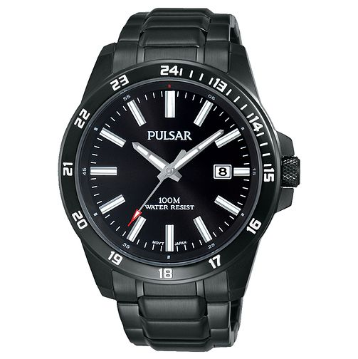 Pulsar Men's Black Ion Plated Stainless Steel Bracelet Watch - Product number 6183085