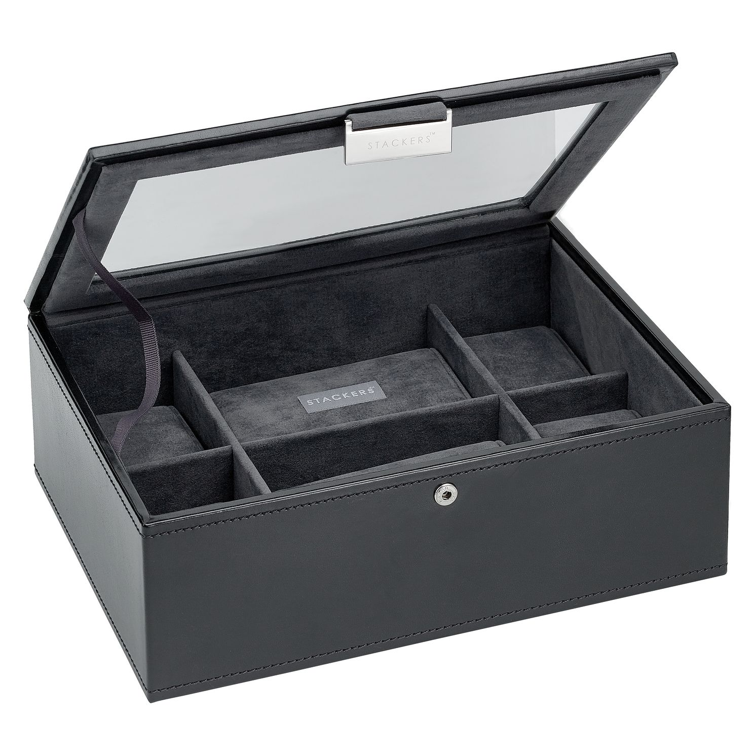 Black 8 Piece Watch Box - Product number 6187854