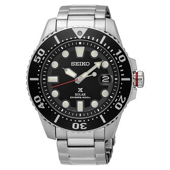 Seiko Prospex Men's Solar Stainless Steel Bracelet Watch - Product number 6187994