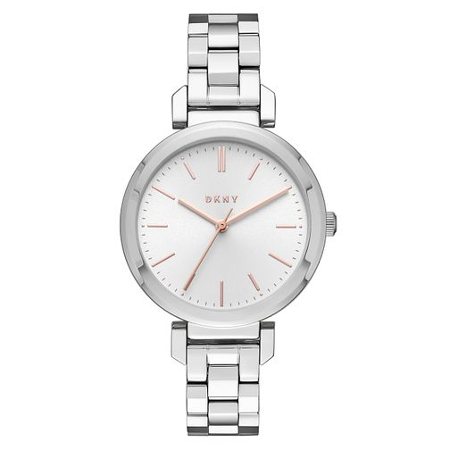 DKNY Ladies' White Dial Stainless Steel Bracelet Watch - Product number 6193757