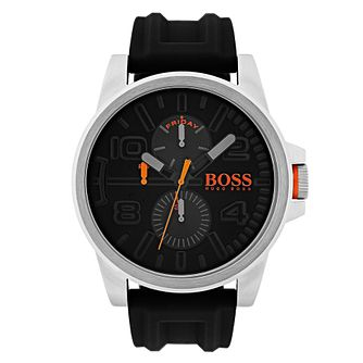 Hugo Boss Orange Men's Black Silicone Strap Watch - Product number 6194222