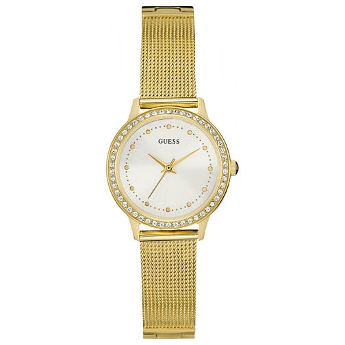 Guess Ladies' Stone Set Gold-Plated Bracelet Watch - Product number 6194818