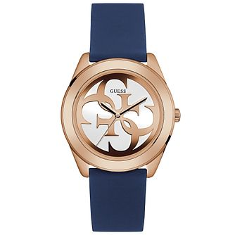 Guess Ladies' Blue Silicone Strap Watch - Product number 6194885