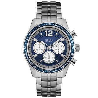 Guess Men's Blue Dial Stainless Steel Bracelet Watch - Product number 6195105