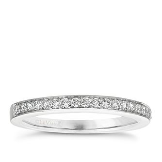 14ct White Gold 0.18ct Diamond Band - Product number 6205666