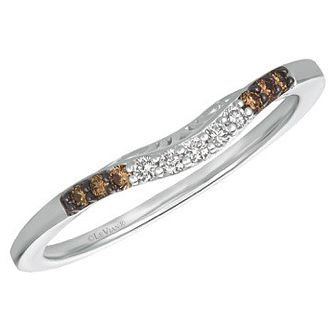 Le Vian 14ct Vanilla Gold 0.11ct Chocolate Diamond Band - Product number 6205682