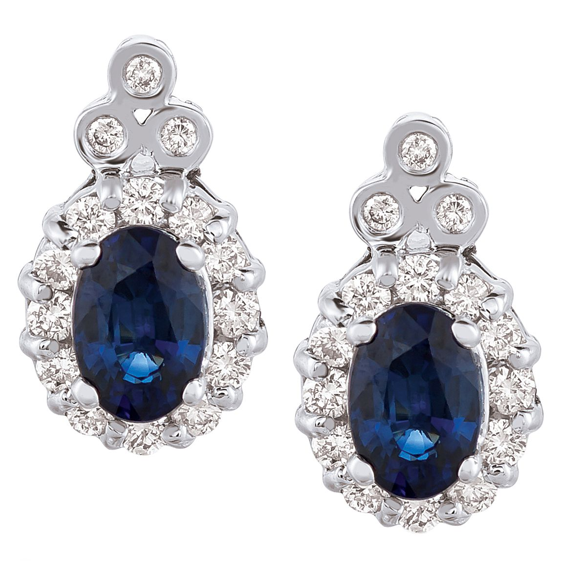 Le Vian 14ct Vanilla Gold Sapphire & 0.40ct Diamond Earrings - Product number 6207200