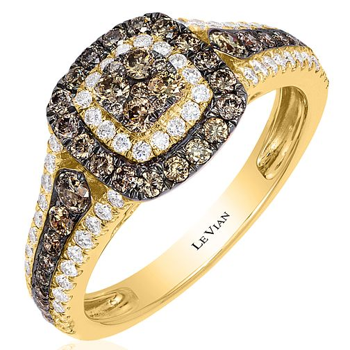 Le Vian 14ct Honey Gold 0.92ct Diamond Ring - Product number 6209017