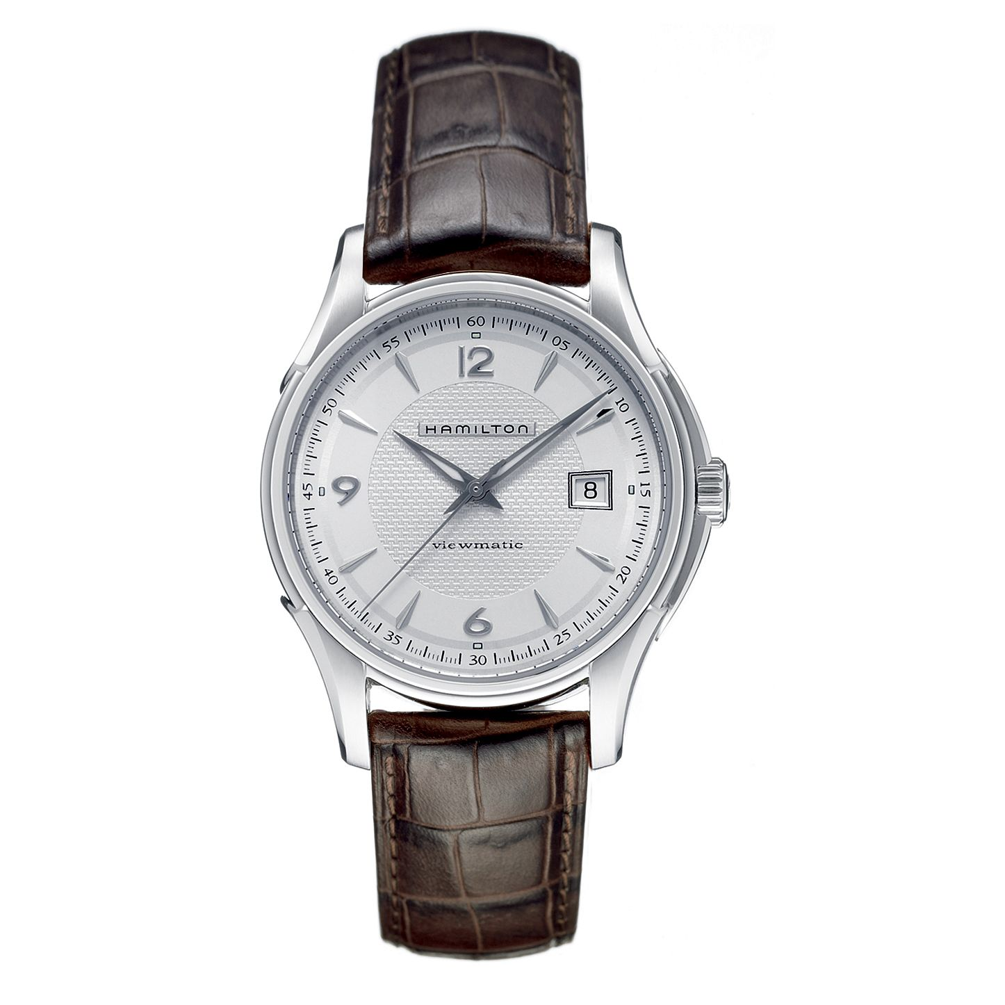 Hamilton Jazzmaster Men's Brown Leather Strap Watch - Product number 6209971
