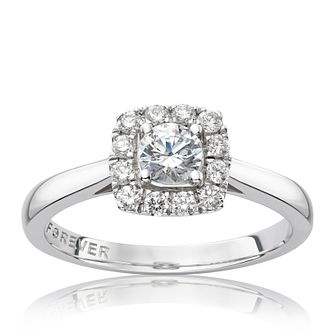 The Forever Diamond Platinum 0.50ct Total Ring - Product number 6211631