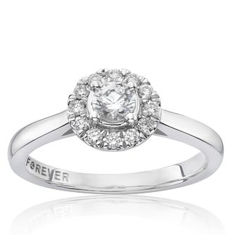 Platinum 1/3 Carat Forever Diamond Halo Ring - Product number 6211895