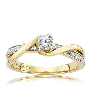 18ct Yellow Gold 1/3 Carat Forever Diamond Ring - Product number 6212379