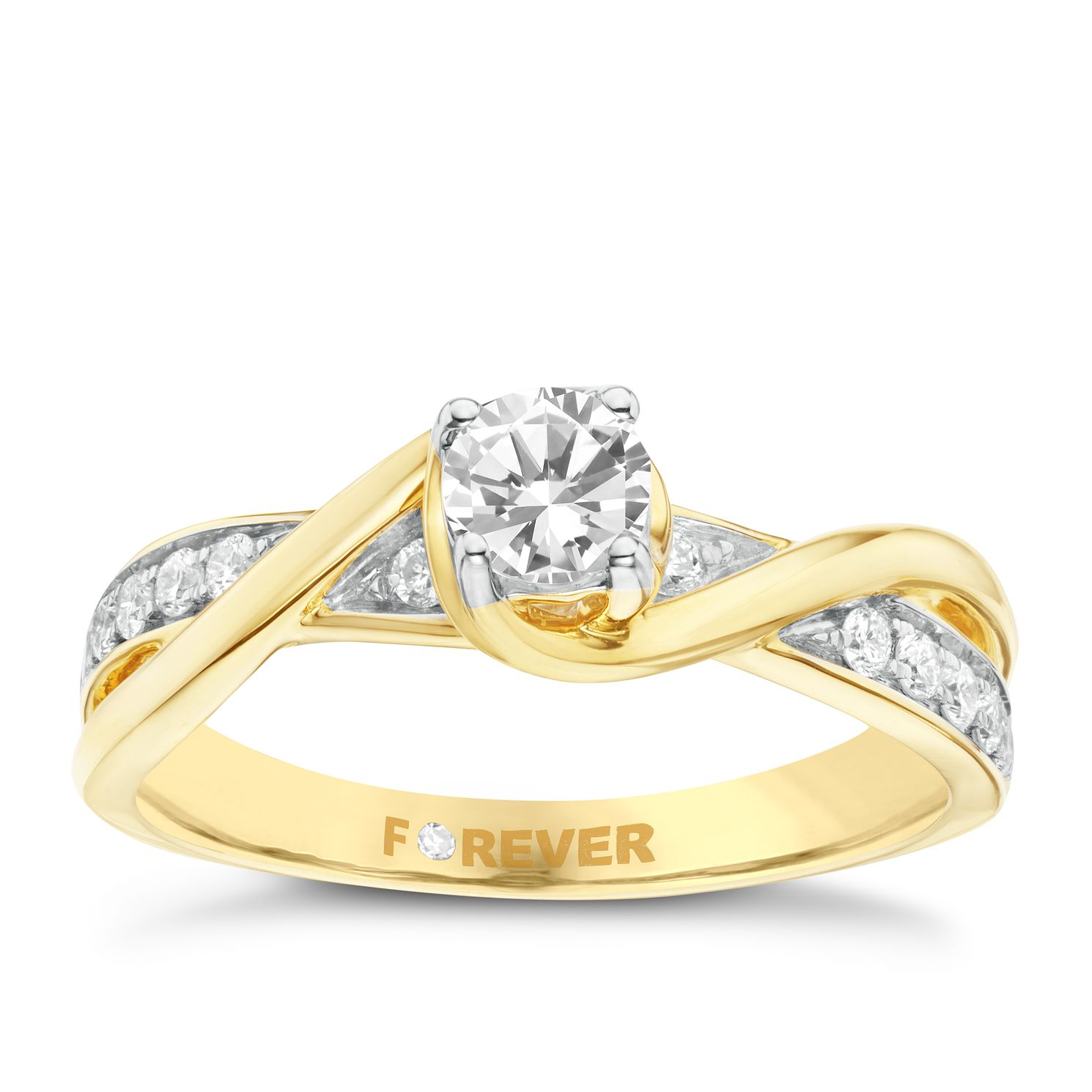 The Forever Diamond 18ct Yellow Gold 0.50ct Total Ring - Product number 6212514
