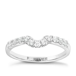 18ct White Gold 1/4 Carat Forever Diamond Ring - Product number 6213472