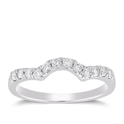 18ct White Gold 1/4 Carat Forever Diamond Ring - Product number 6213618