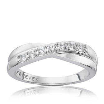 998dff0e1016b Platinum 0.28 Carat Forever Diamond Eternity Ring