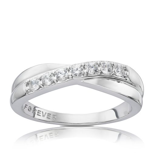 Platinum 0.28 Carat Forever Diamond Eternity Ring - Product number 6213731