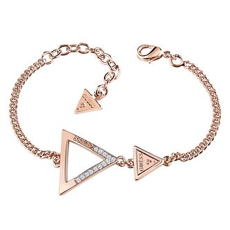 Guess Rose Gold Plated Swarovski CrystalTriangle Bracelet - Product number 6220347