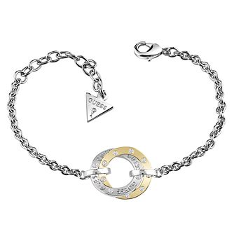 Guess Rhodium & Yellow Gold Plated Bracelet - Product number 6220355