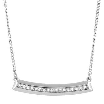 Buckley London Shoreditch Rhodium & Cubic Zirconia Necklace - Product number 6221173