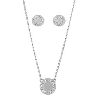 Buckley London Shoreditch Rhodium Earring & Pendant Set - Product number 6221254