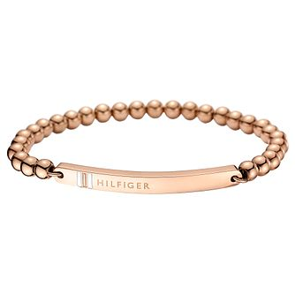 Tommy Hilfiger Rose Gold Plated Beaded Bracelet - Product number 6222943