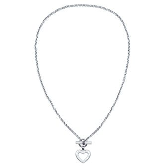 Tommy Hilfiger Stainless Steel Heart Toggle Necklace - Product number 6222951
