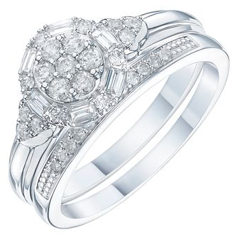 Perfect Fit 9ct White Gold 2/5ct Diamond Bridal Set - Product number 6227856