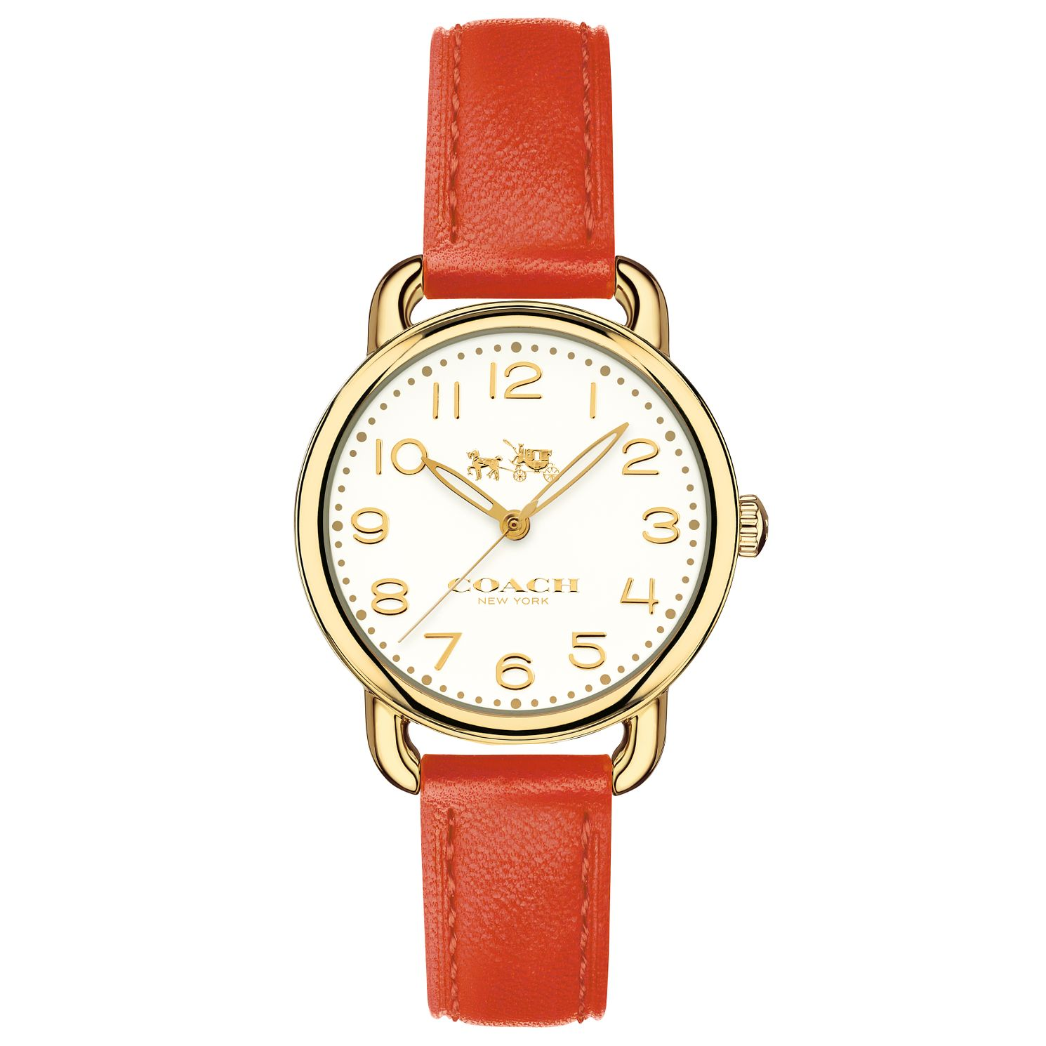Coach Delancy Ladies' Gold Plated Strap Watch - Product number 6231098