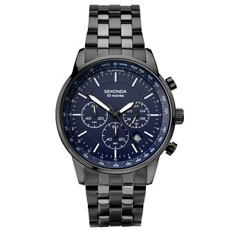 Sekonda Men's Chronograph Black Stainless Steel Watch - Product number 6231136