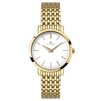 Accurist Ladies' Gold Plated Bracelet Watch - Product number 6231152