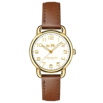 Coach Delancy Ladies' Gold Tone Strap Watch - Product number 6231241