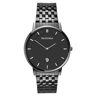 Sekonda Men's Black Stainless Steel Bracelet Watch - Product number 6231438
