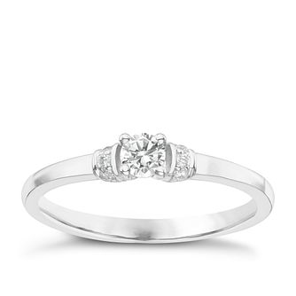 9ct White Gold Diamond Solitaire Ring - Product number 6231632
