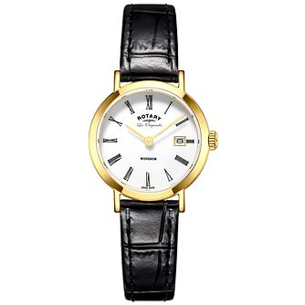 Rotary Les Originales Windsor Black Leather Strap Watch - Product number 6232337