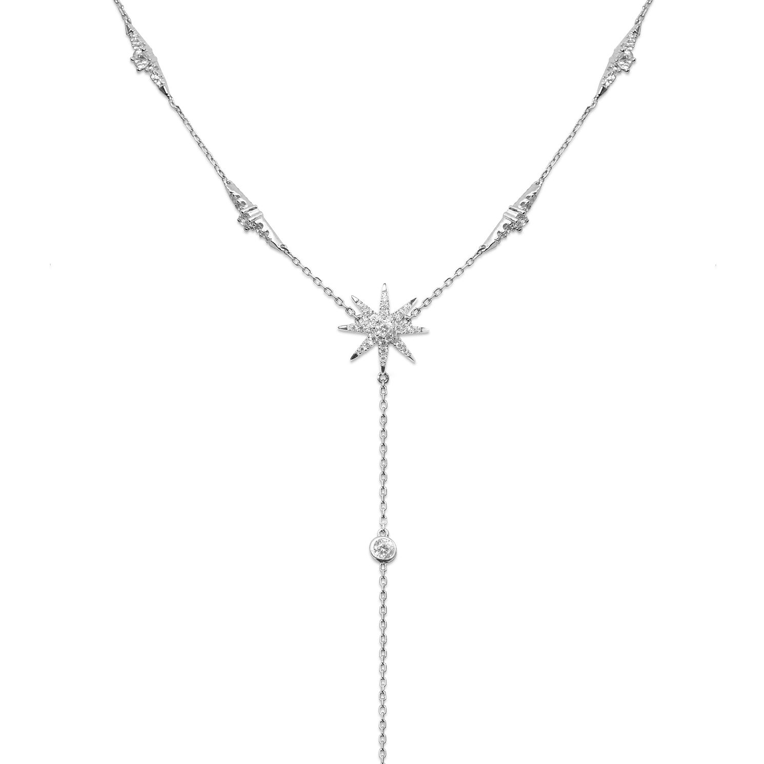 CARAT* LONDON Stella Mimosa Sterling Silver Drop Pendant - Product number 6235255
