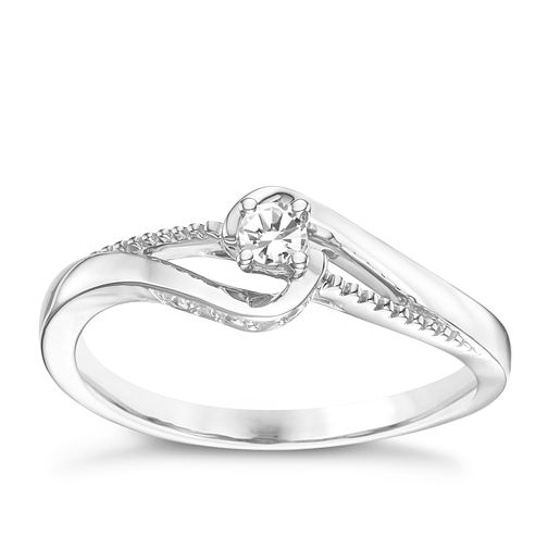9ct White Gold Diamond Ring - Product number 6237304