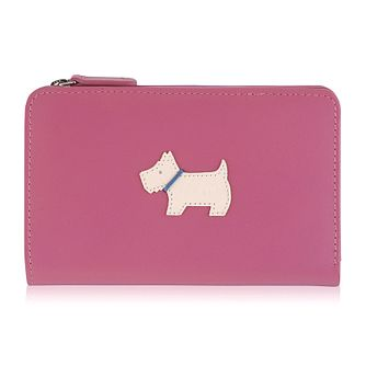 Radley Fandango Medium Zip Pink Leather Purse - Product number 6241492