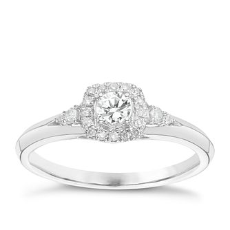 9ct White Gold 1/4 Carat Diamond Solitaire Ring - Product number 6242375