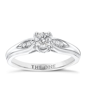The One 9ct White Gold 1/2ct Diamond Ring - Product number 6244068