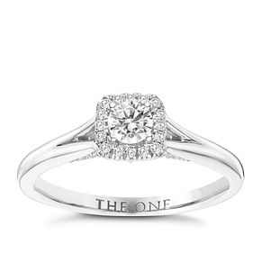 The One 9ct White Gold 1/4ct Diamond Ring - Product number 6244181