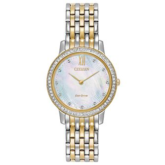 Citizen Ladies' Two Tone Stainless Steel Bracelet Watch - Product number 6247032