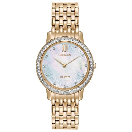 Citizen Ladies' Gold Plated Stainless Steel Bracelet Watch - Product number 6247040