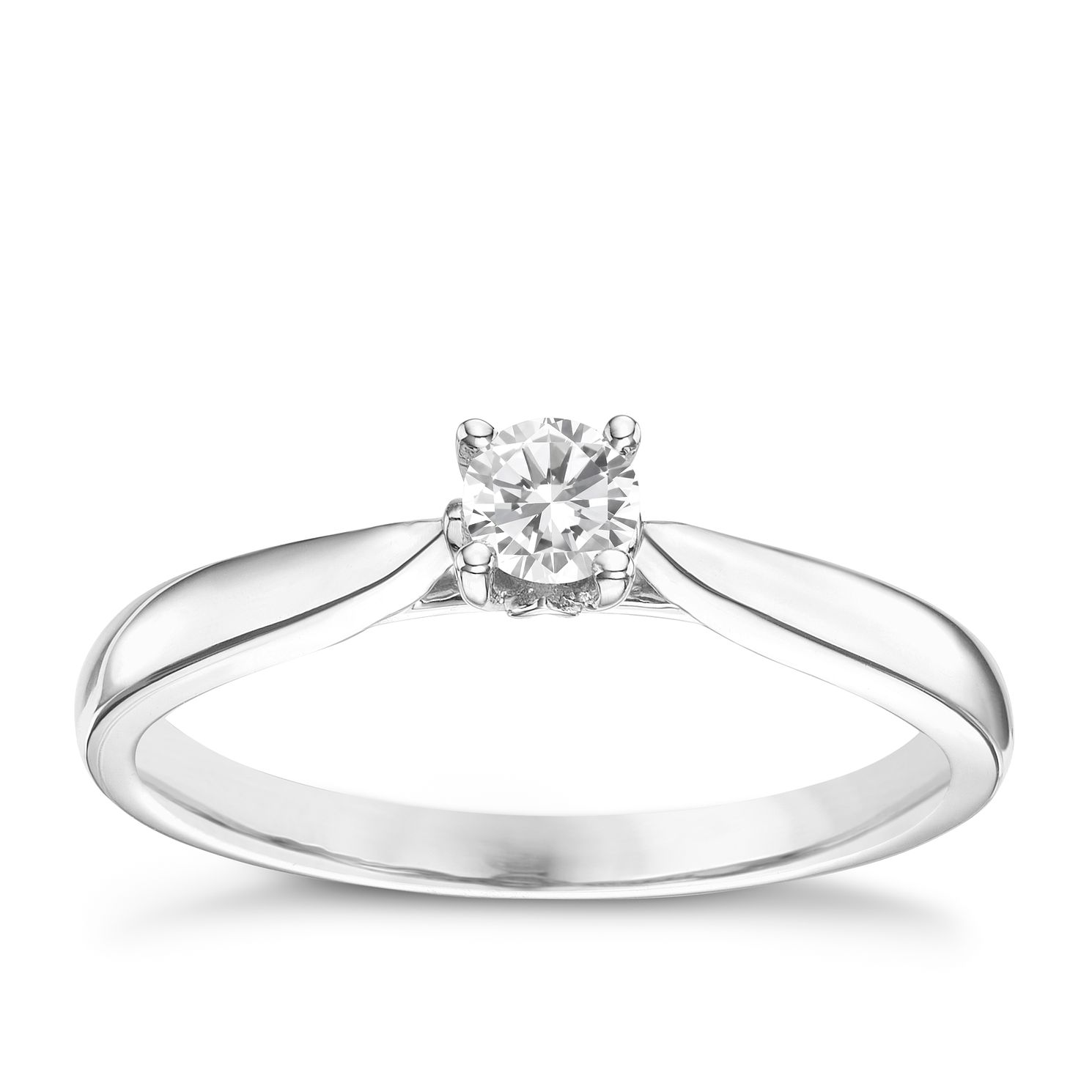 9ct White Gold 0.20ct Diamond Solitare Ring - Product number 6248330