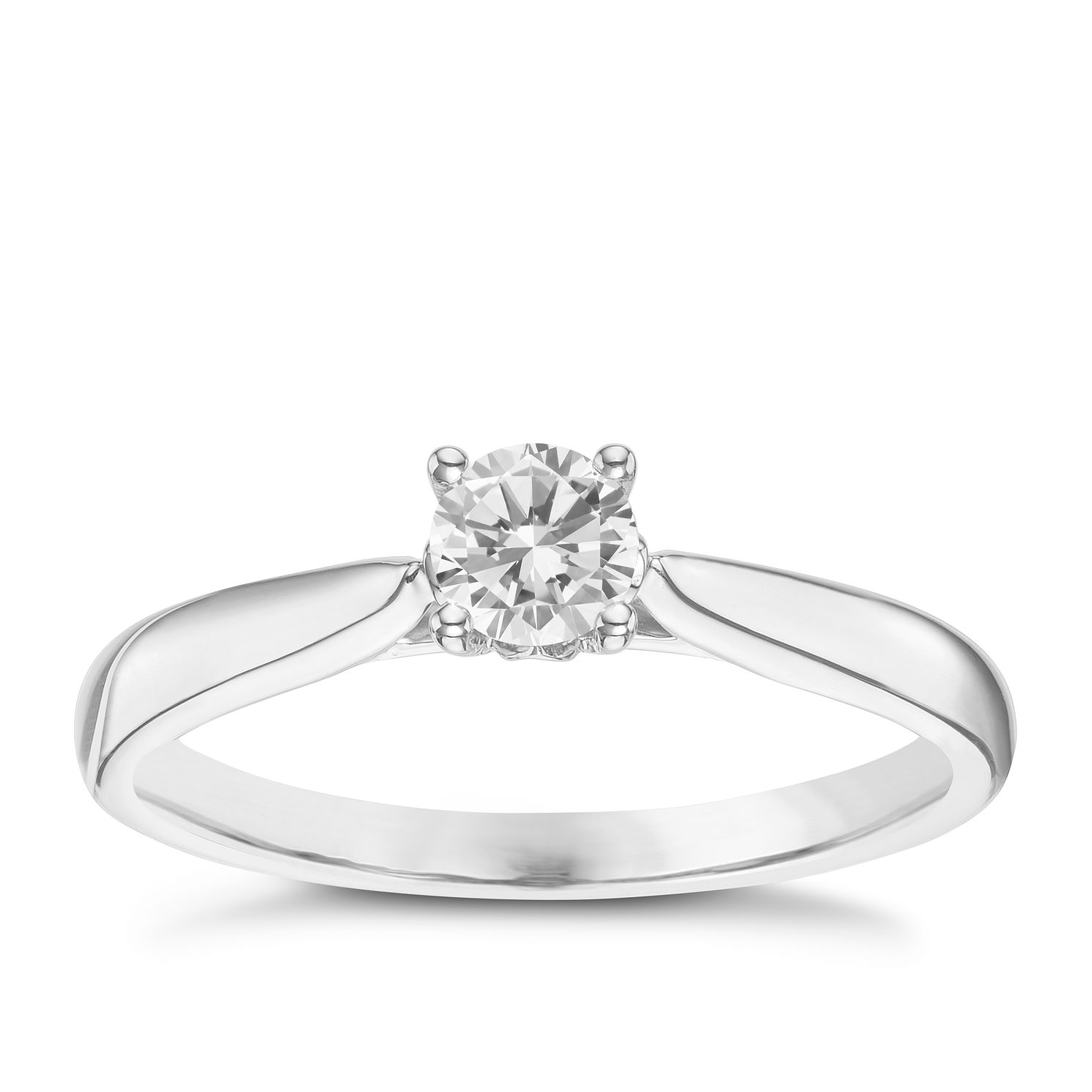 9ct White Gold 0.30ct Diamond Solitaire Ring - Product number 6248608