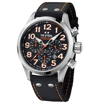 Tw Steel Dakar Men's Stainless Steel Black Strap Watch - Product number 6250319